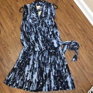 Michael Kors Blue Cowl Neck Dress